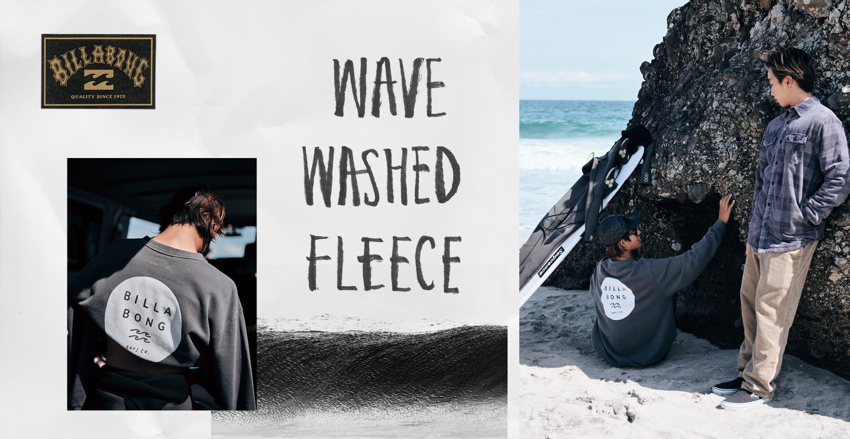 WAVE WASHED FLEECE