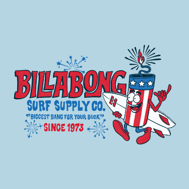 RED WHITE & BILLABONG